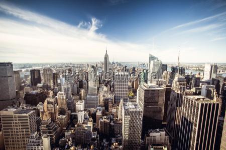 top blick auf new york city