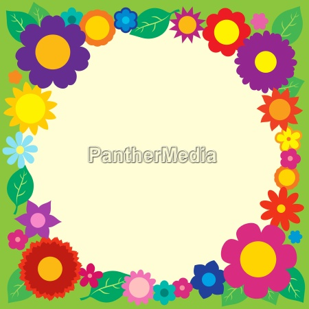 frame with flower theme 5