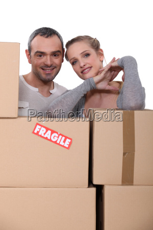 happy starting new life together