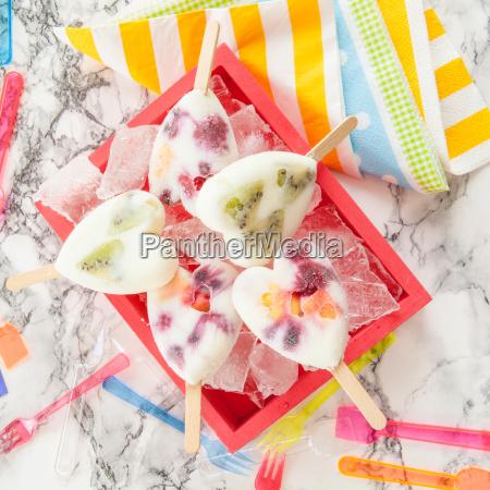 homemade fruit ice