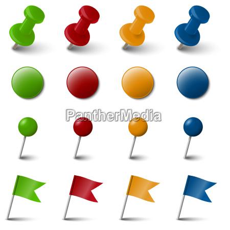 sammlung 4 farbig markierzubehoer