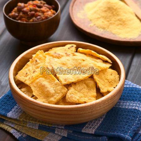 homemade baked corn chips