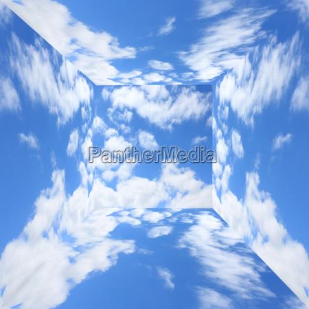 blauer himmel mit wolken in dreidimensionalen
