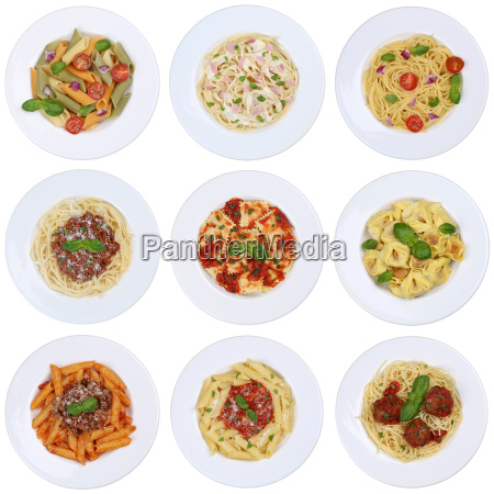 collection of spaghetti ravioli pasta pasta