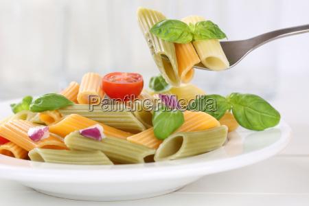 eat colorful penne rigate pasta pasta