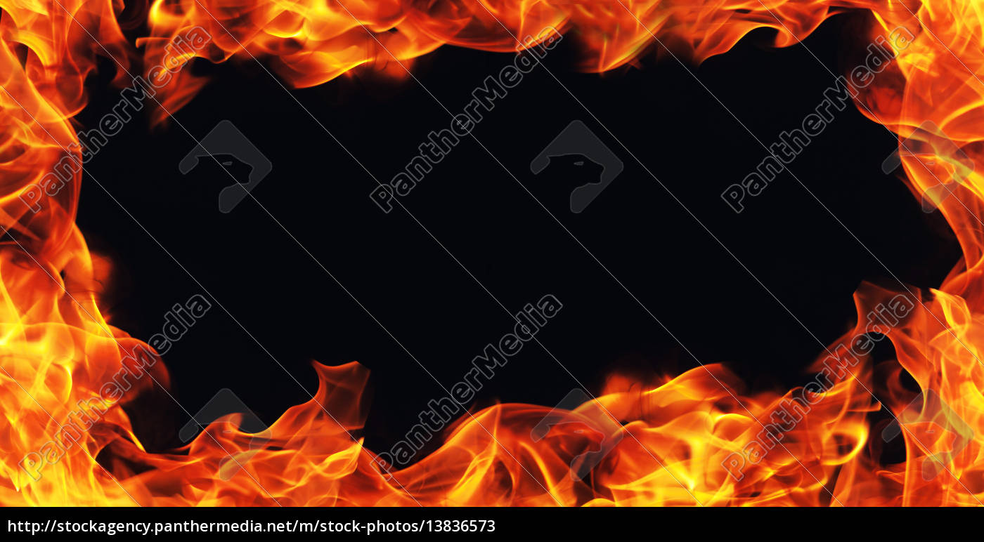 brennendes feuer flamme rahmen auf schwarzem stockfoto 13836573 bildagentur panthermedia. Black Bedroom Furniture Sets. Home Design Ideas