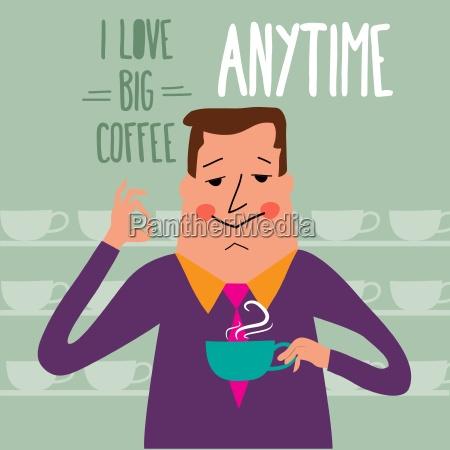 kaffeepause geschaeftsmann kaffee zu trinken