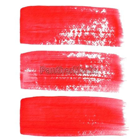 rote tinte vektor pinselstriche