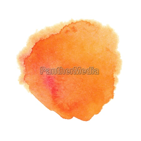 orange aquarellstelle