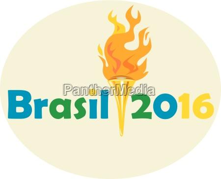 brasil 2016 sommerspiele fackel