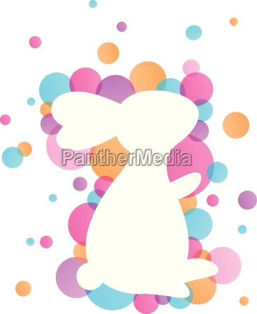osterhase vector colorful