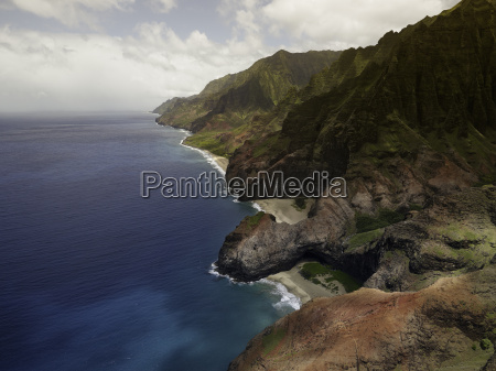 aerial view on na pali coast
