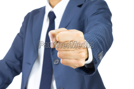 businessman fist isolated on white background