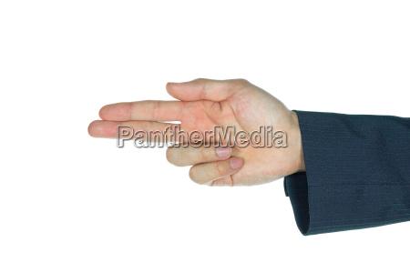 businessman finger gun index finger and