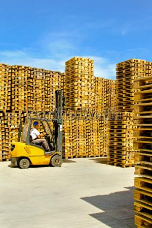 loading forklift