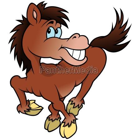 froehliches pferd
