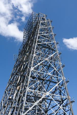 turm industrie stahl metall gefuege struktur