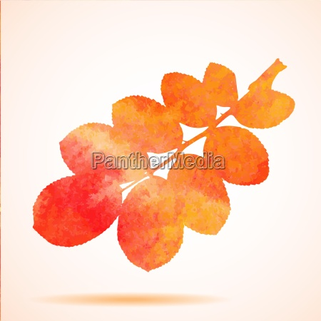 orange watercolor painted vector autumn dog