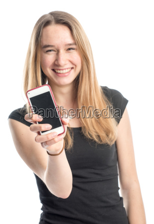 adolescents presented a cell phone and