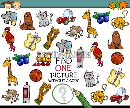 finden cartoon einzelnes bild spiel