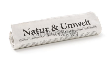 newspaper roll with the heading nature