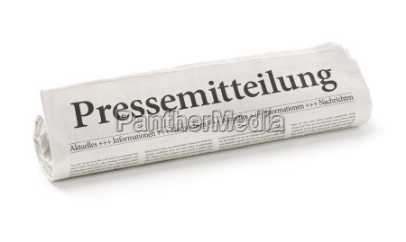 newspaper roll with the heading press