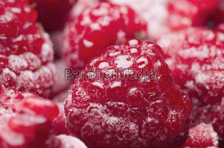 raspberries juicy cold