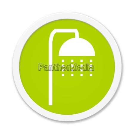 runder button mit dusch symbol