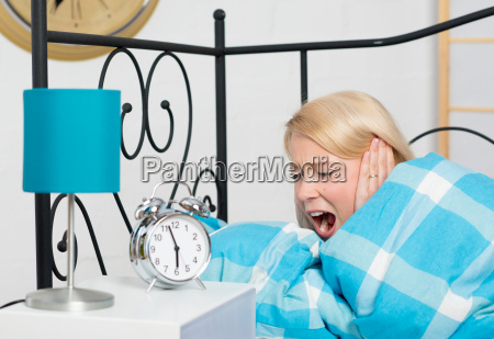 loud alarm clock in the morning