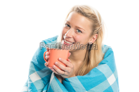 young woman enjoying her first coffee