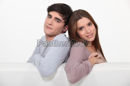 couple sitting on the couch