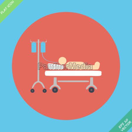 das leben icons krankenhaus mit serum