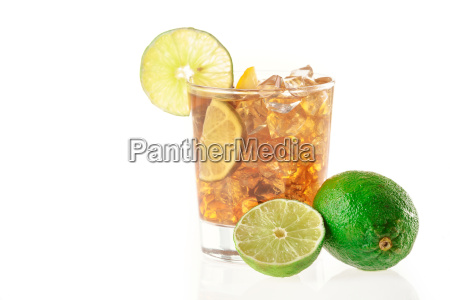 fresh fresh cocktail with cola drink