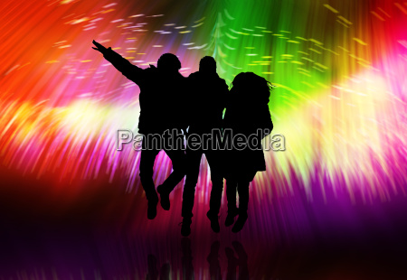 hintergrund der disco party