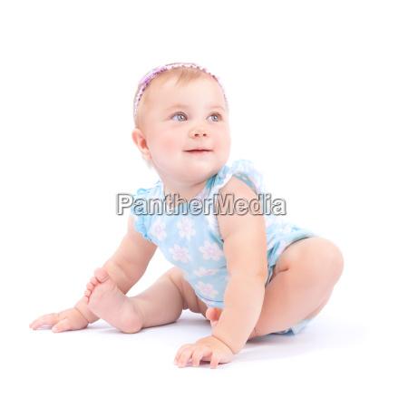 gluecklich niedliche baby maedchen