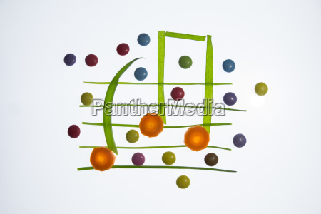 colorful and healthy music notes
