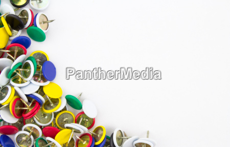 thumbtacks with copy space
