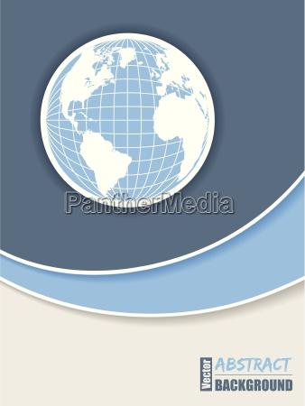 unternehmensbroschuere design in blau