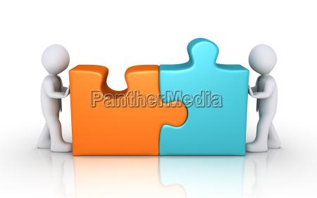 vereinbarung konzept mit puzzleteilen
