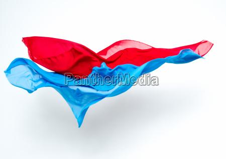 abstrakte stuecke blauen und roten stoff