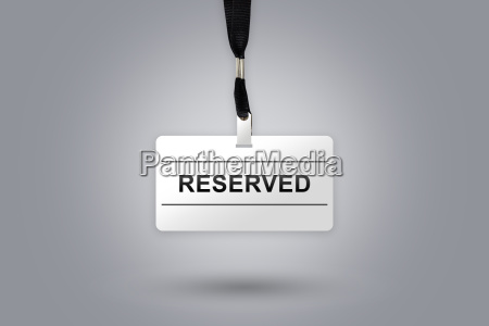 reserved on badge