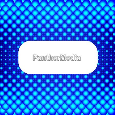 blue halftone background with white banner