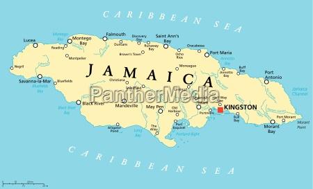 jamaika politische karte