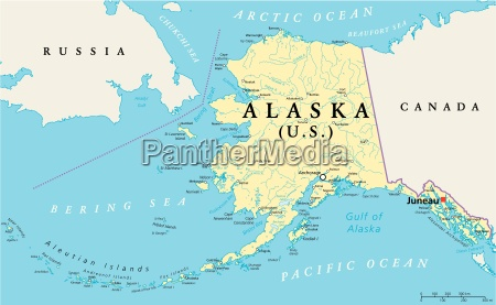 alaska politische karte