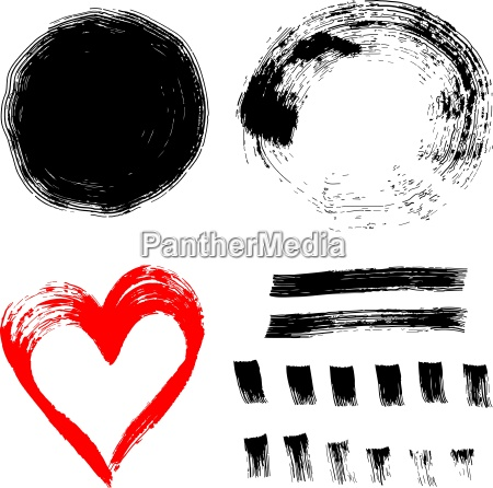 set of ink paint frames