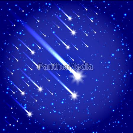 raum hintergrund mit sternen und kometen