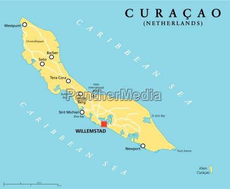 curacao political map