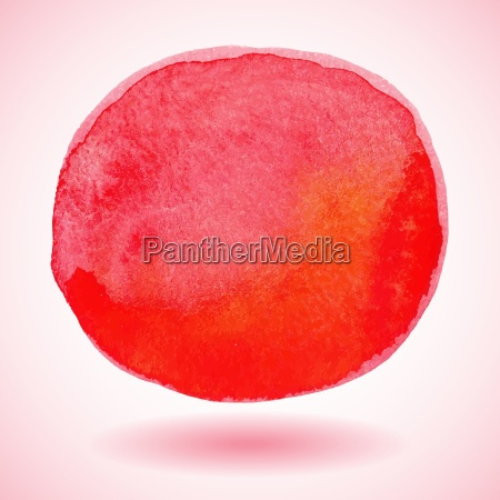 red watercolor paint vector circle