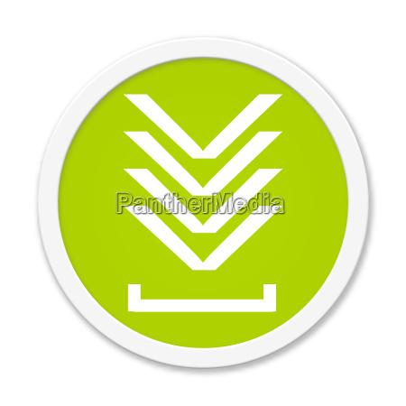 runder gruener button mit download symbol