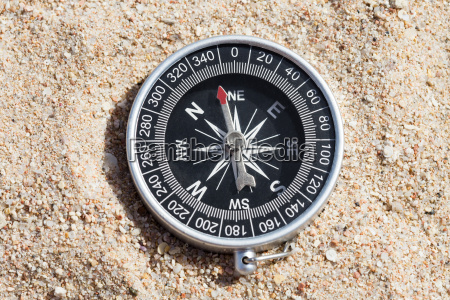 high angle view of compass